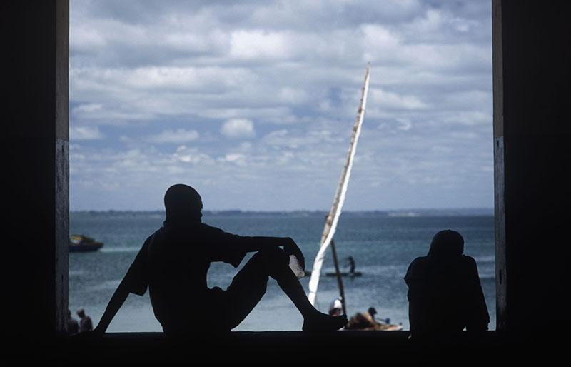 Рыбаки в окне