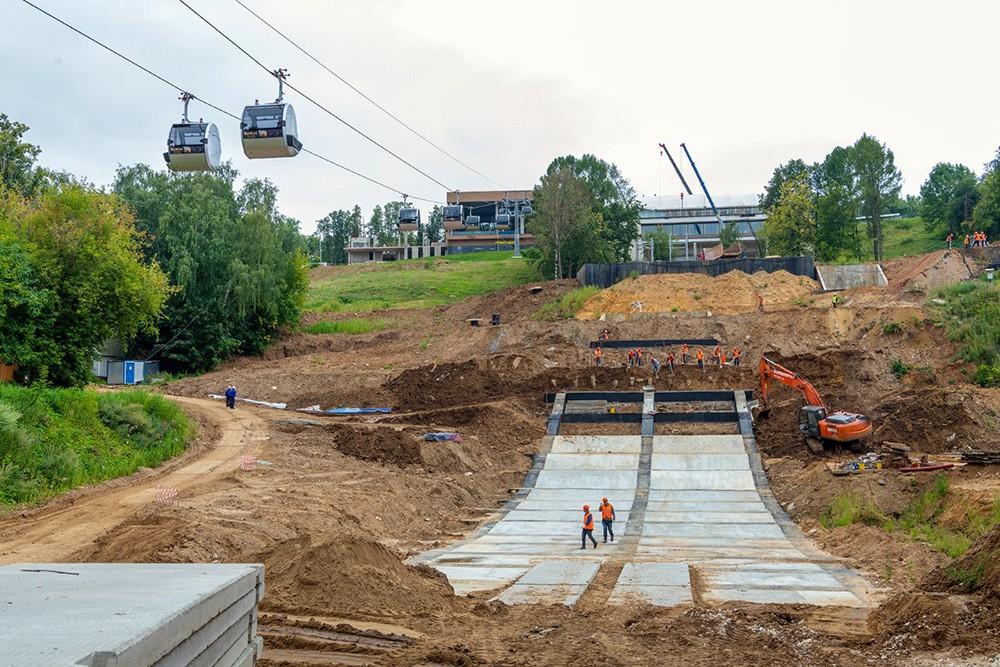 Строительство спорткомплекса для зимних видов спорта на Воробьевых горах