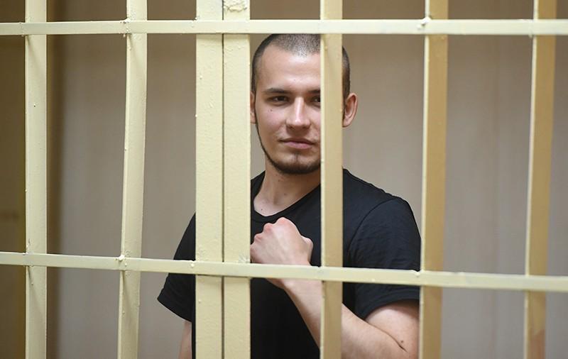 Активист Владислав Барабанов, обвиняемый по уголовному делу о массовых беспорядках в центре Москвы