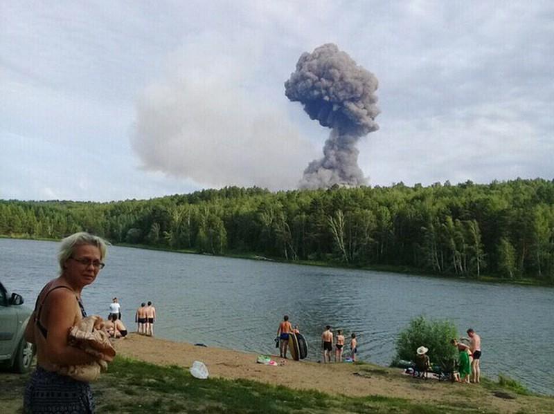 Взрыв на складе боеприпасов