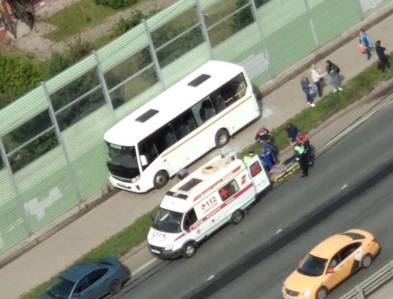Происшествие с участием автобуса в Долгопрудном
