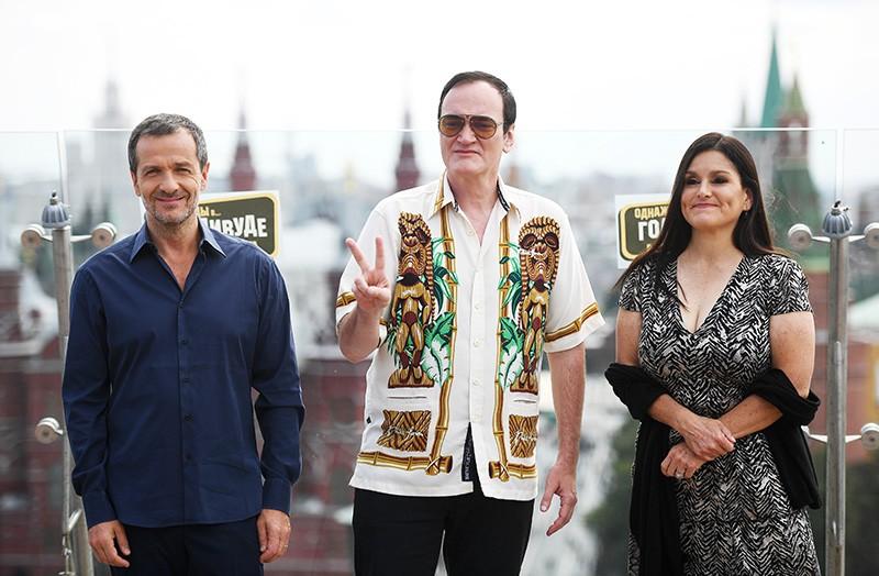 Продюсер Дэвид Хейман, режиссер Квентин Тарантино и продюссер Шеннон МакИнтош (слева направо)