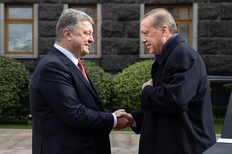 Реджеп Тайип Эрдоган и Петр Порошенко