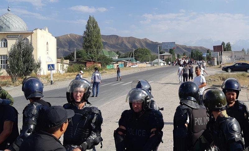 Сотрудники полиции Киргизии