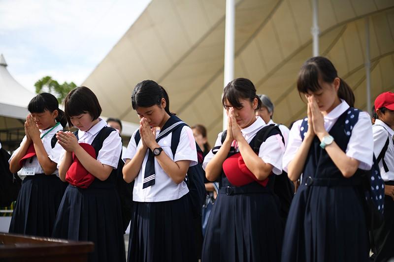 Память жертв атомной бомбардировки в японском Нагасаки