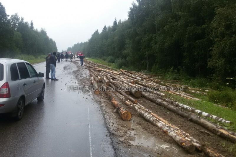 ДТП с участием лесовоза