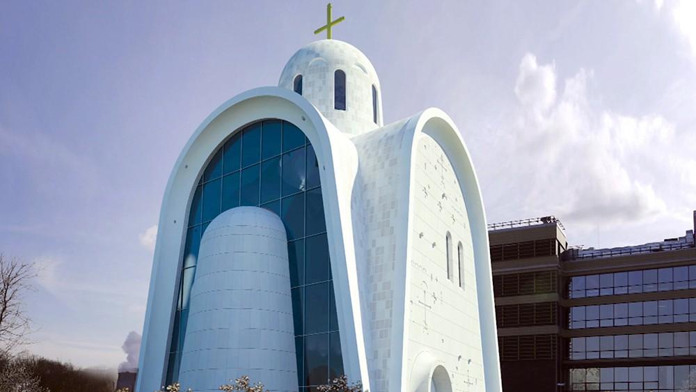 Проект футуристической церкви