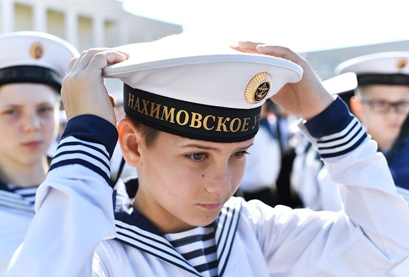 Кадеты филиала Нахимовского военно-морского училища