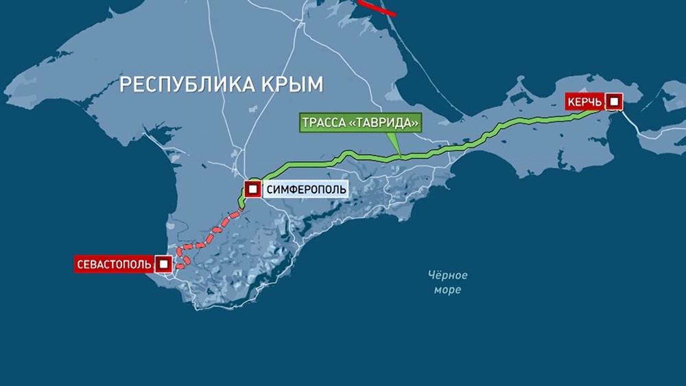"""Строительство трассы """"Таврида"""" в Крыму"""