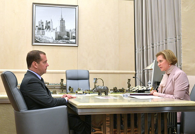 Дмитрий Медведев и Анна Попова