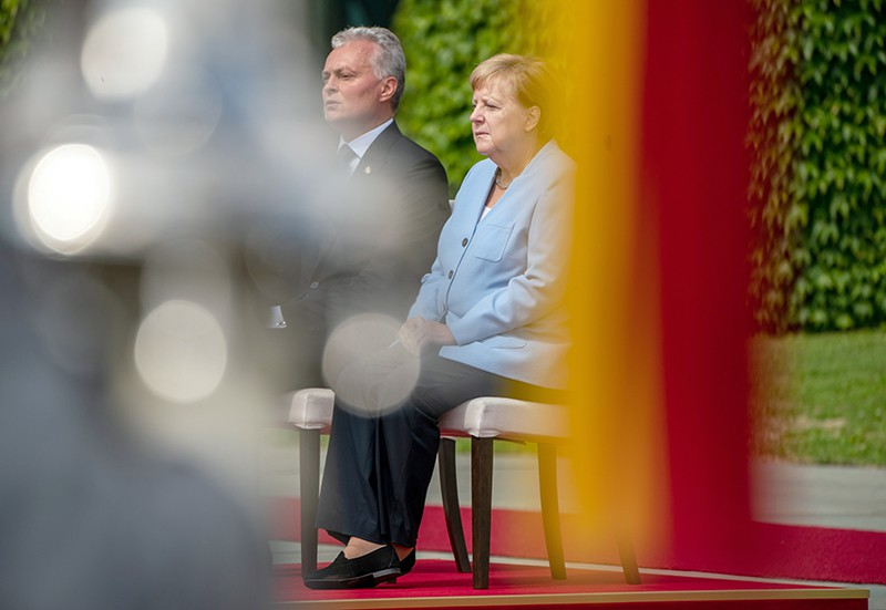 Ангела Меркель и Гитанас Науседа