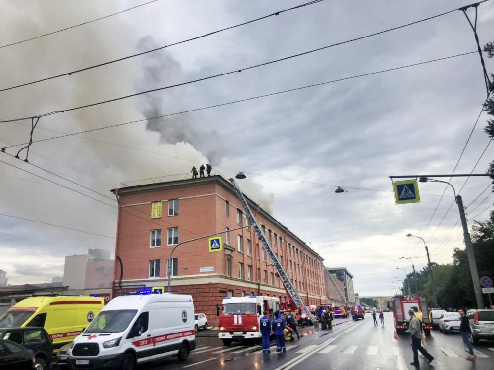 Пожар в Санкт-Петербурге