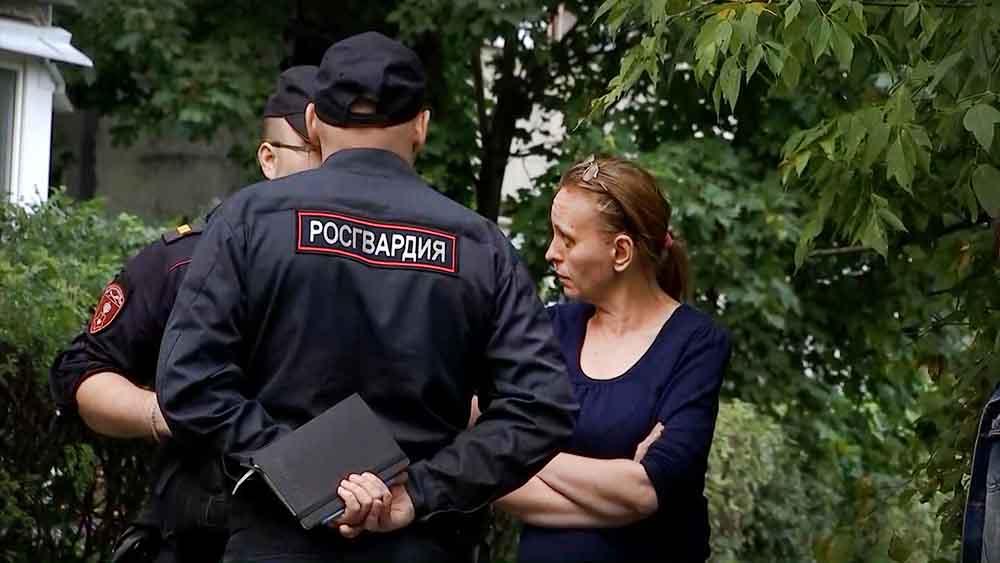 Полиция и росгвардия на месте происшествия
