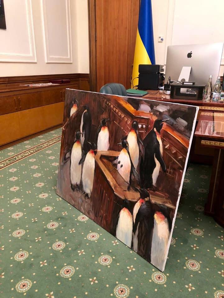 Картина президентского офиса Владимира Зеленского