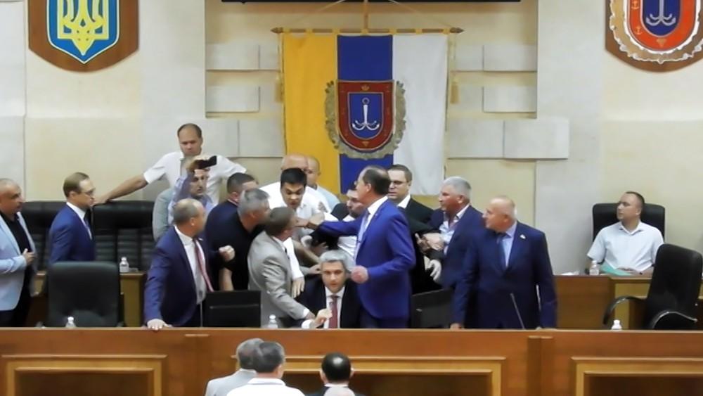 Потасовка в администрации Одессы