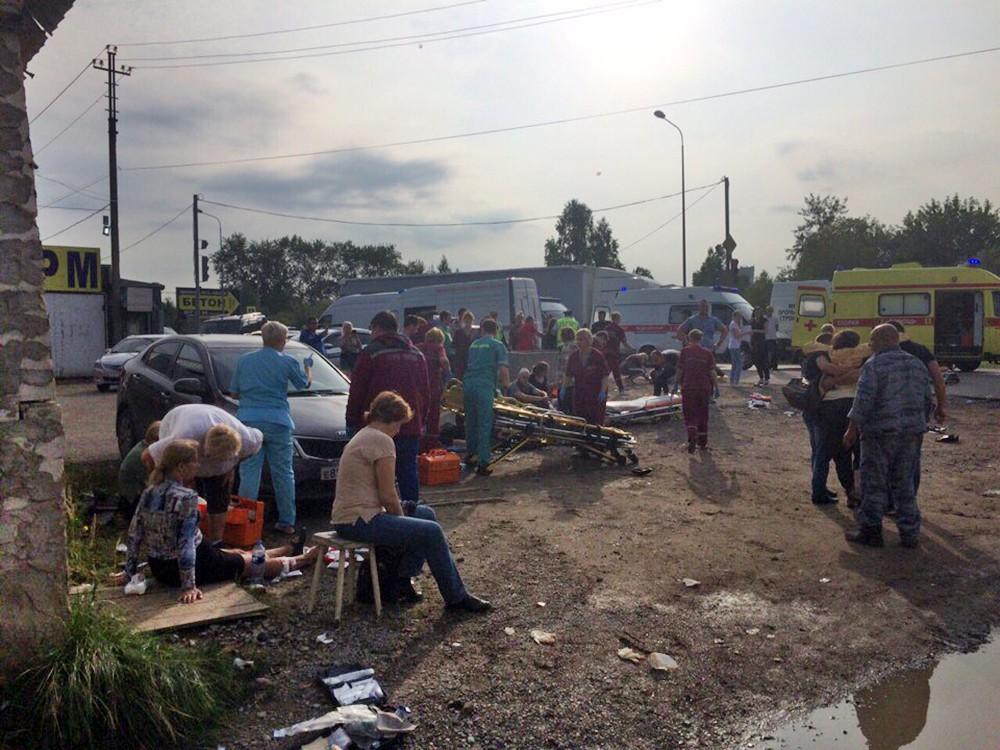 Пострадавшие в ДТП пассажиры автобуса в Перми