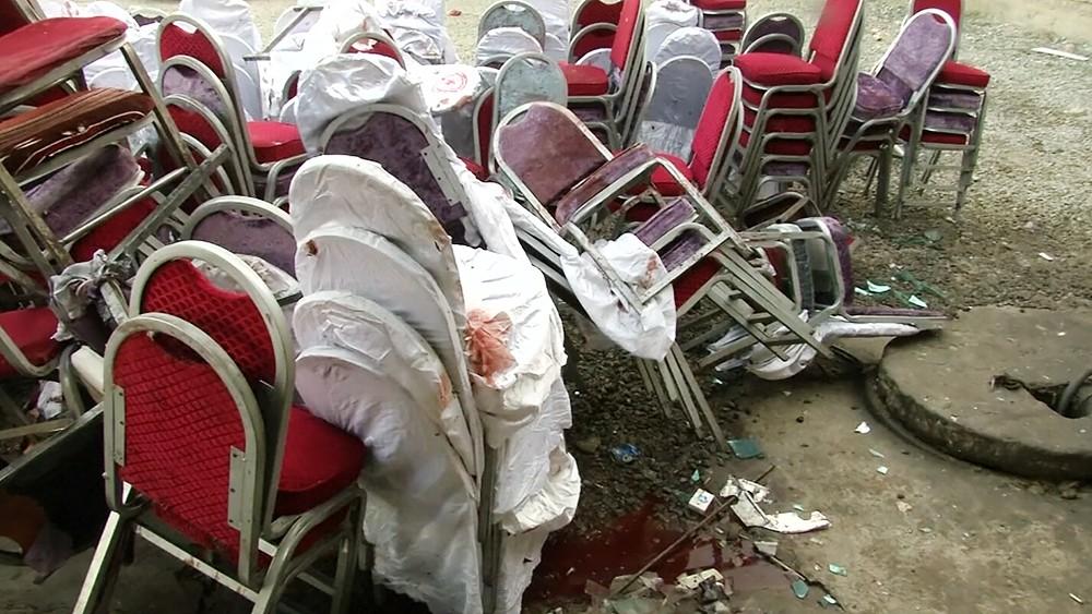 Последствия взрыва в Афганистане