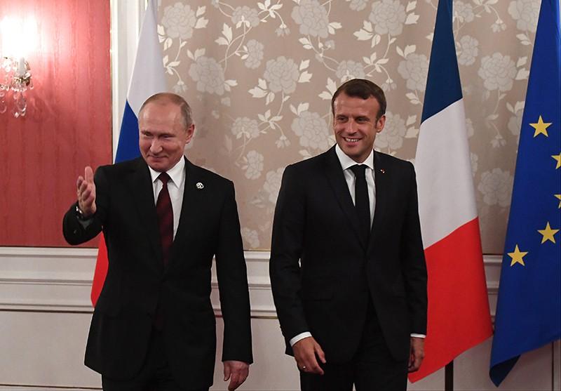 Владимир Путин и президент Франции Эммануэль Макрон