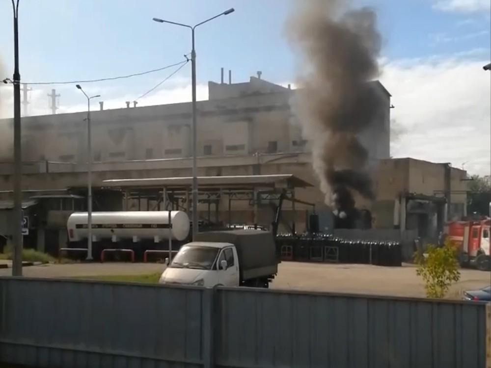 Пожар на химзаводе в подмосковной Балашихе