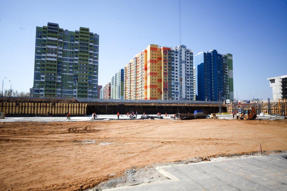 Стройплощадка жилого дома по программе реновации