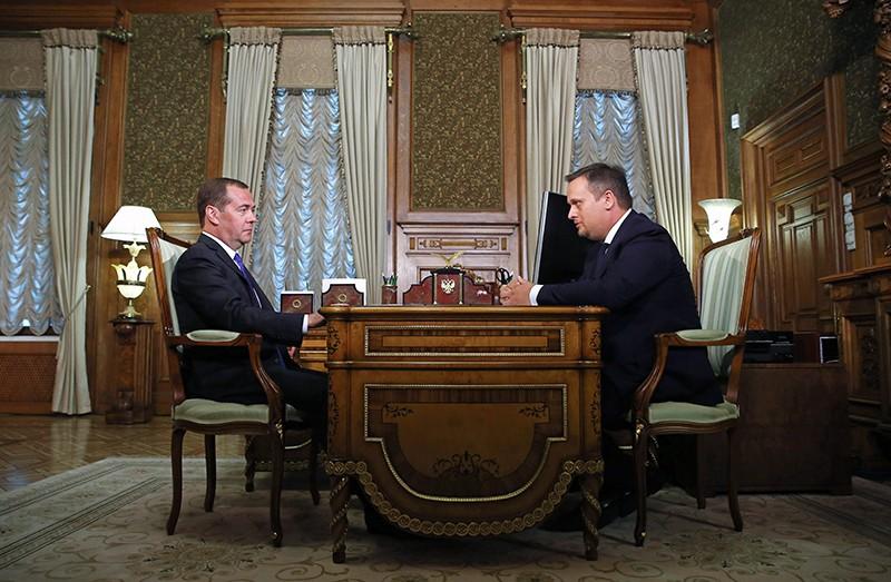 Дмитрий Медведев и губернатор Новгородской области Андрей Никитин