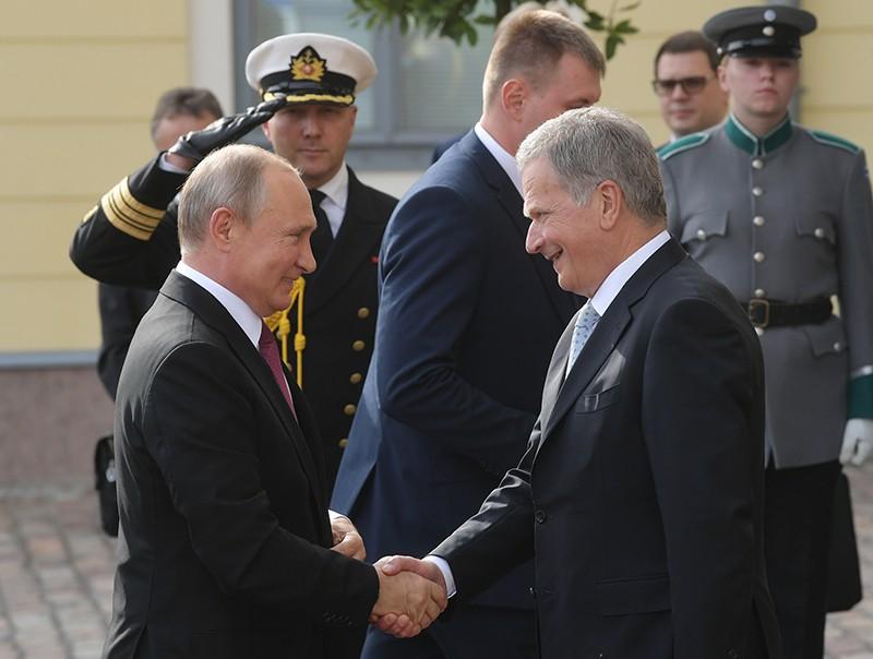 Владимир Путин и президент Финляндской Республики Саули Ниинистё