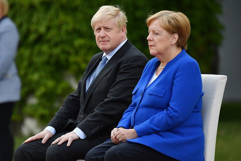 Ангела Меркель и Борис Джонсон