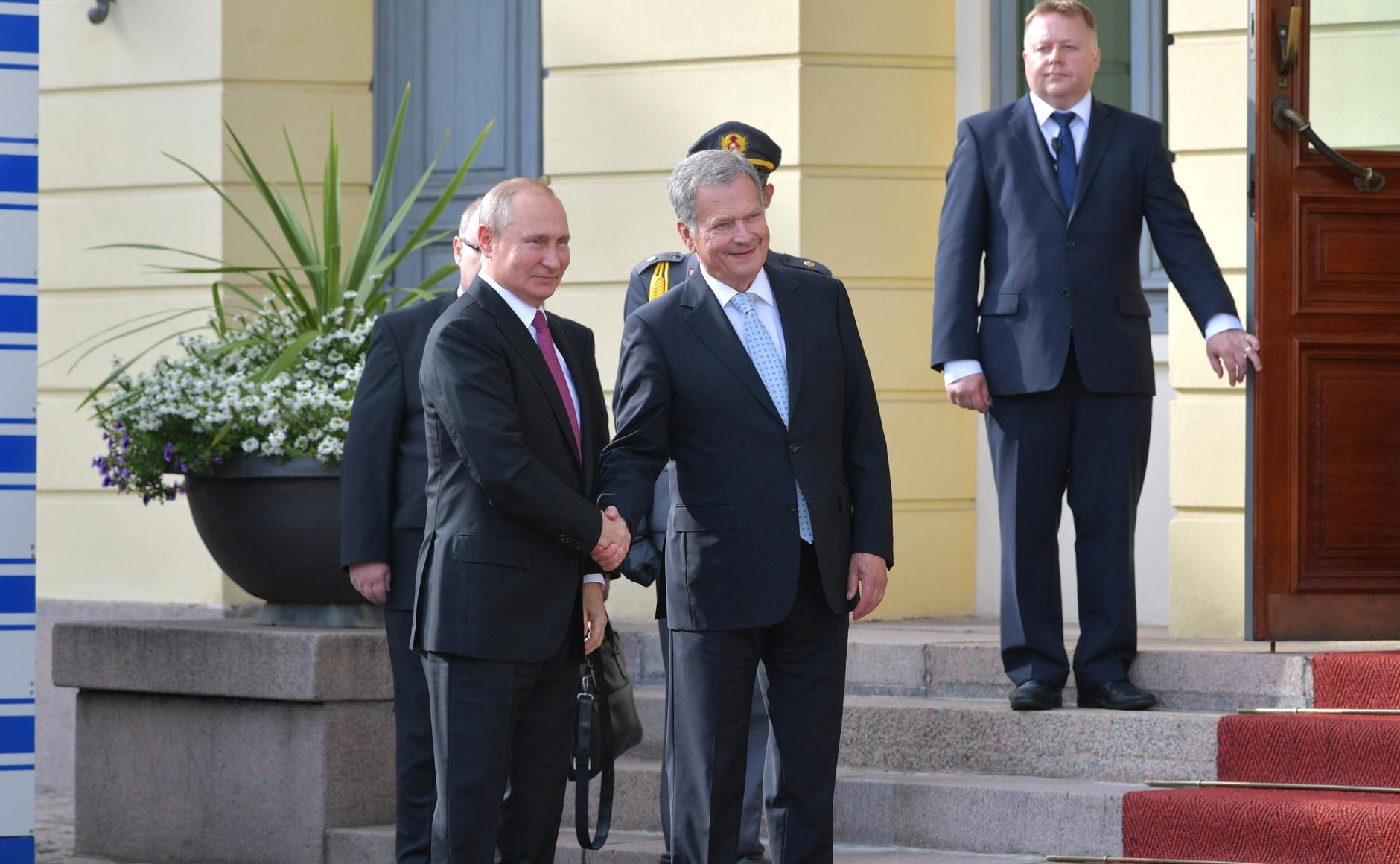 Рабочий визит президента России Владимира Путина в Финляндию
