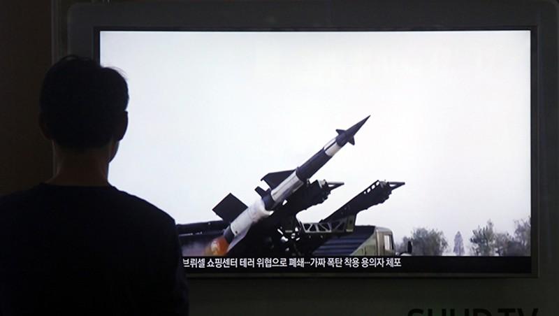 Ракета КНДР перед запуском