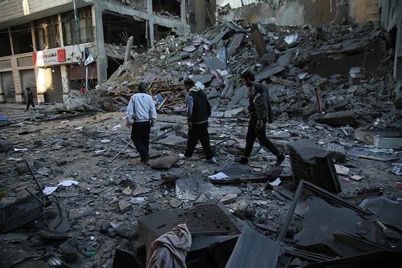 Последствия ракетного удара Израиля