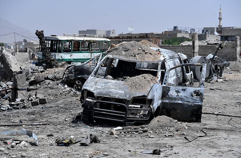 Последствия ракетного удара Израиля. Дамаск, Сирия