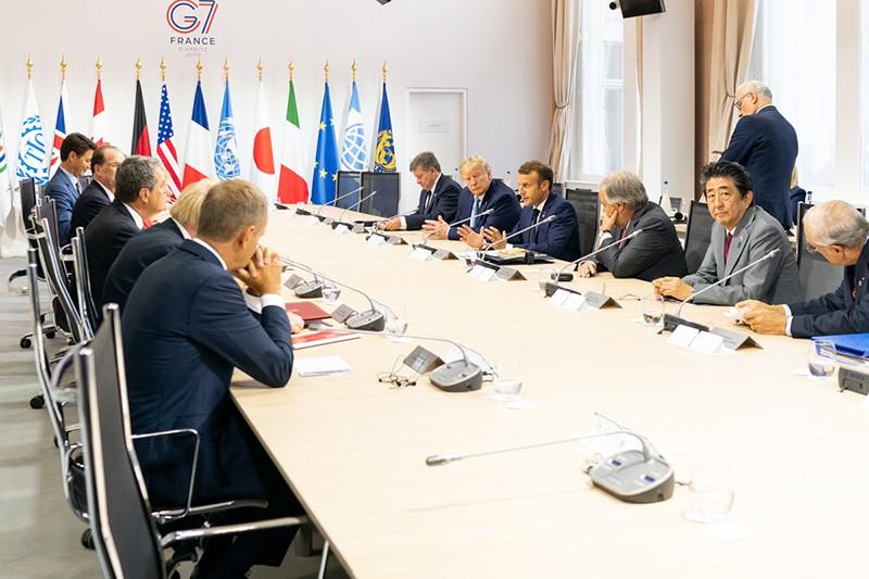 Заседание глав стран саммита G7