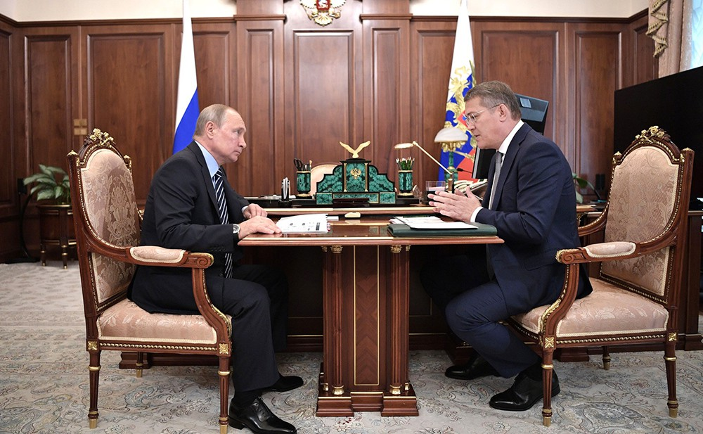Владимир Путин и Радий Хабиров