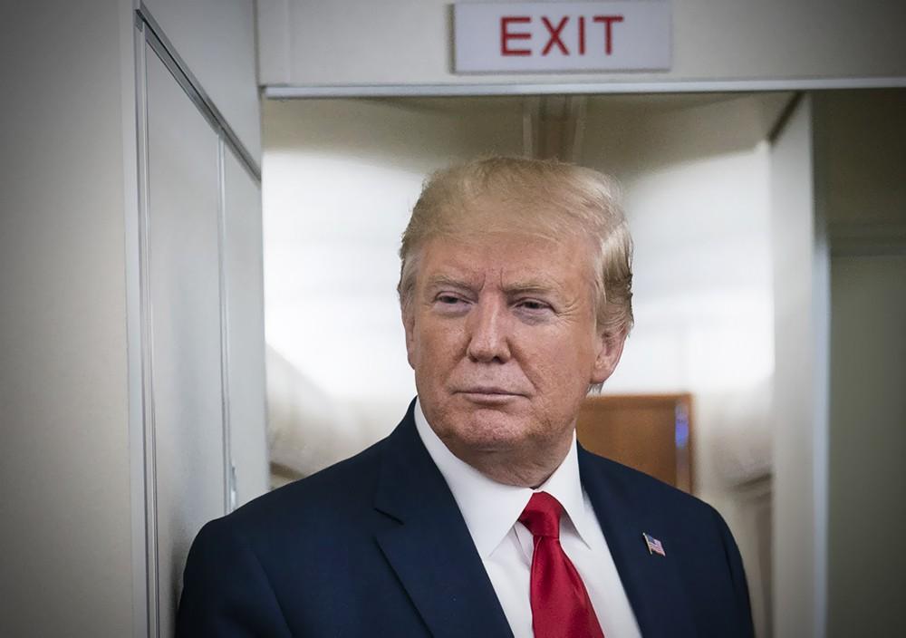 Дональд Трамп у выхода