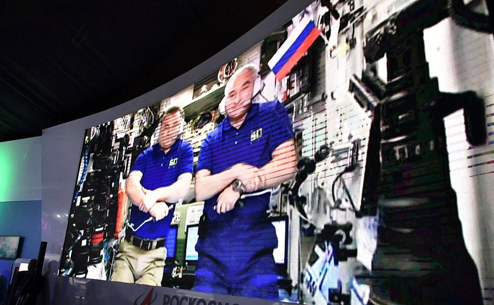Телемост с экипажем МКС
