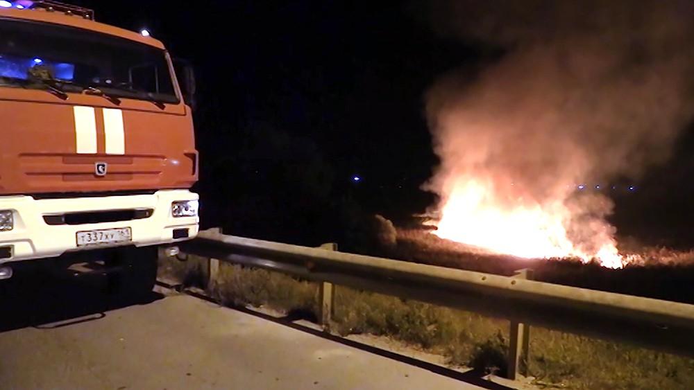 Степной пожар в Ростовской области