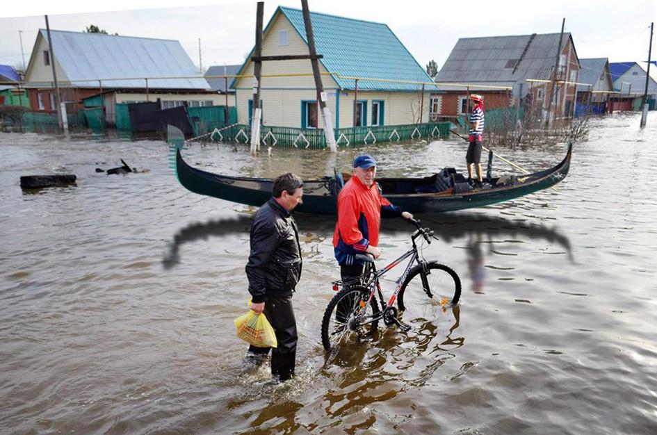 Коллаж: паводок в Приморье