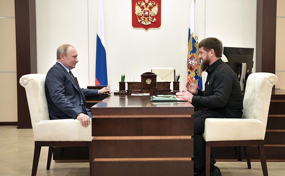 Владимир Путин и Рамзаном Кадыровым