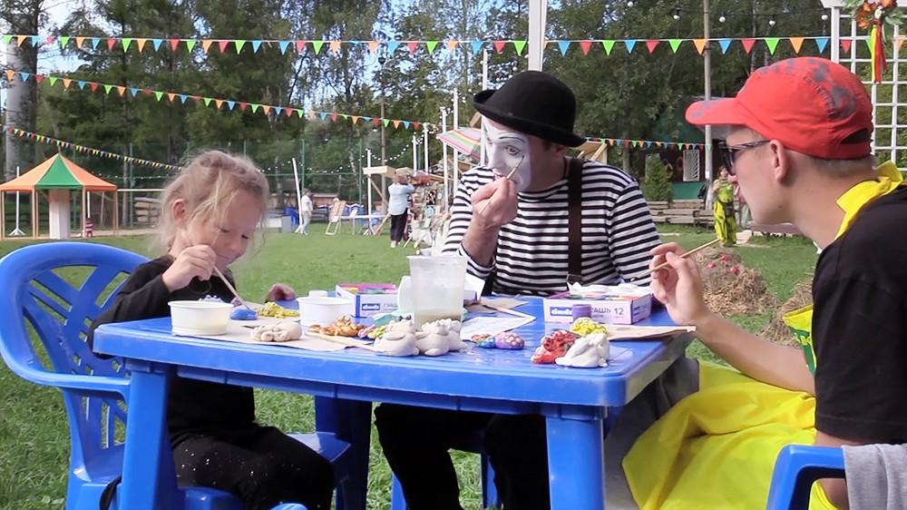 Детский мастер-класс на фестивале в Туле