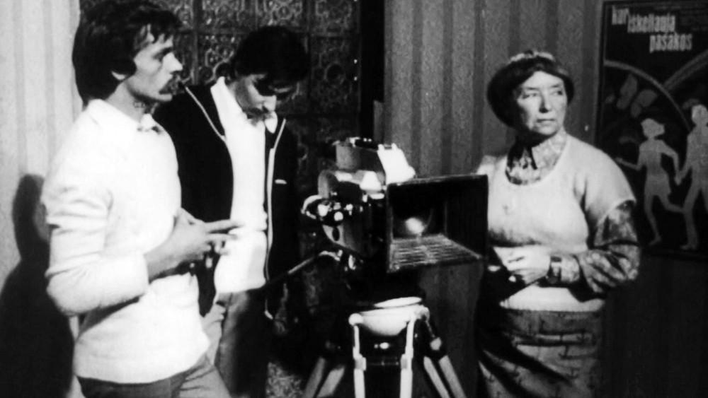 Архивные кадры съемочной площадки фильма