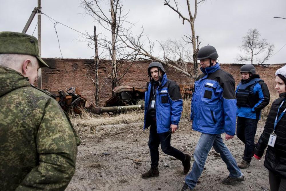 Наблюдатели ОБСЕ в Донбассе