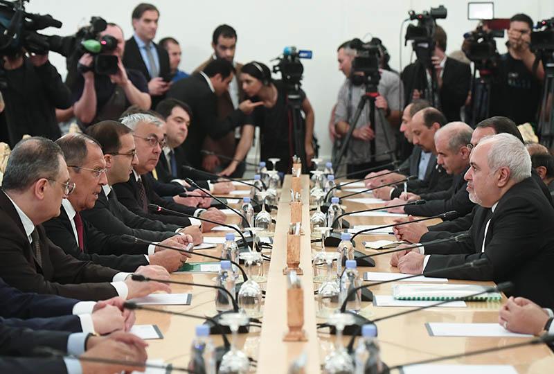 Встреча глав МИД России и Ирана Сергея Лаврова и Мухаммада Джавад Зарифа