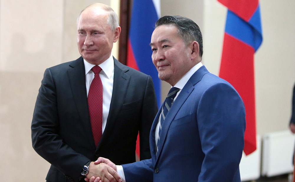 Владимир Путин и Президент Монголии Халтмагийн Баттулги