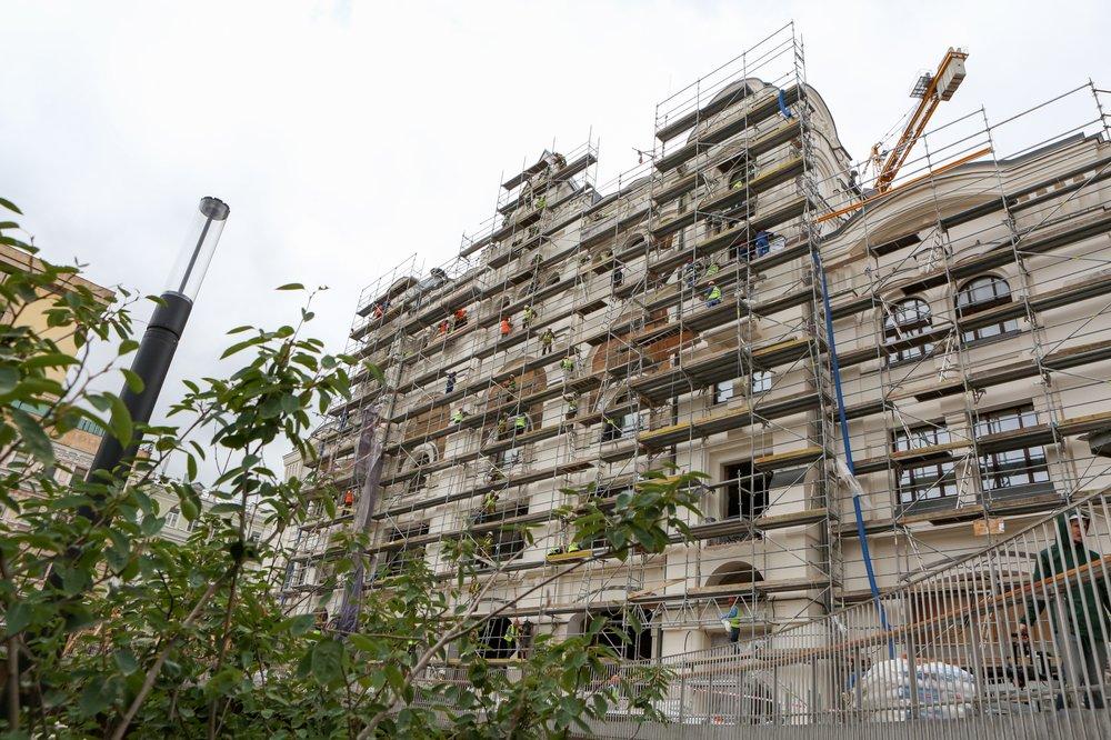 Ход работ по реконструкции и реставрации Политехнического музея