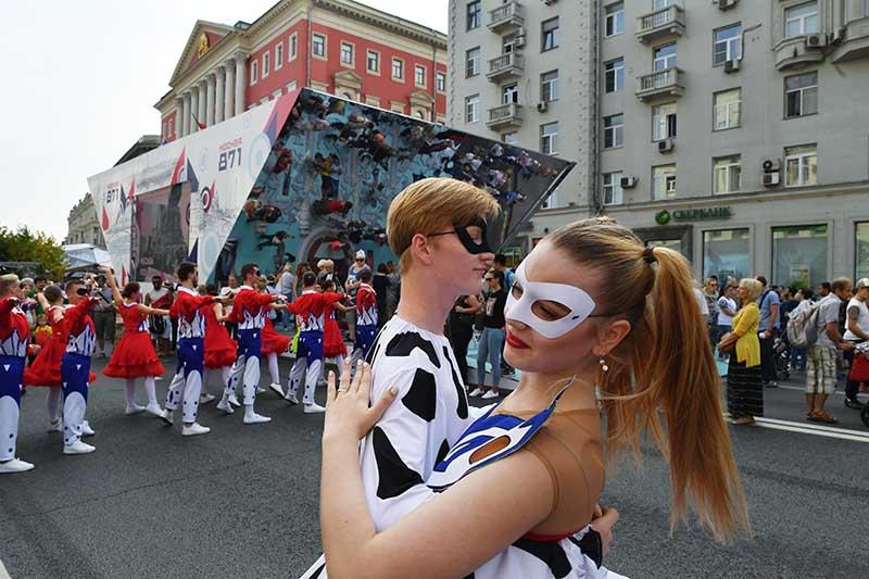 Тверская улица. Празднование Дня города в Москве
