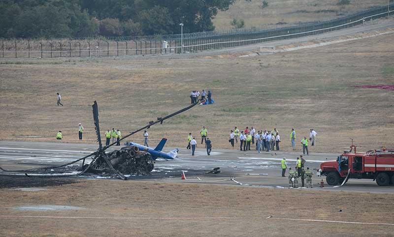 На месте крушения вертолета Ми-8