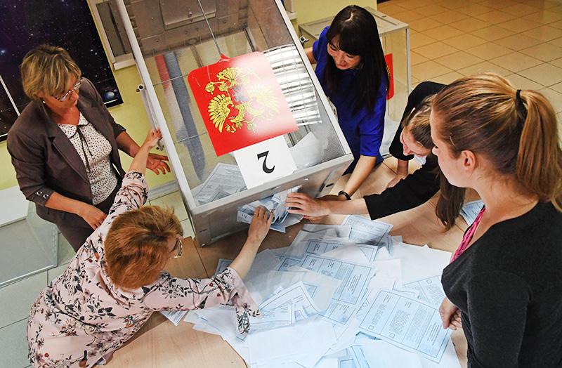 Подсчет голосов на избирательном участке