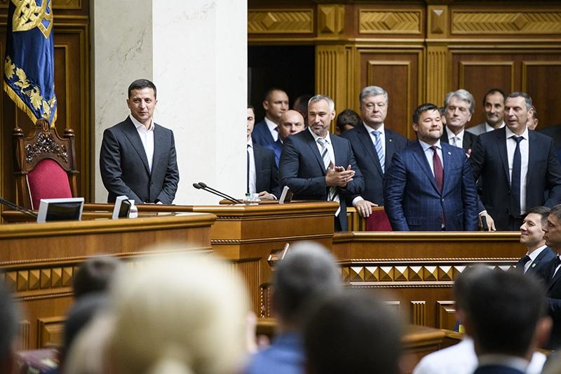 Владимир Зеленский на заседании Верховной Рады Украины