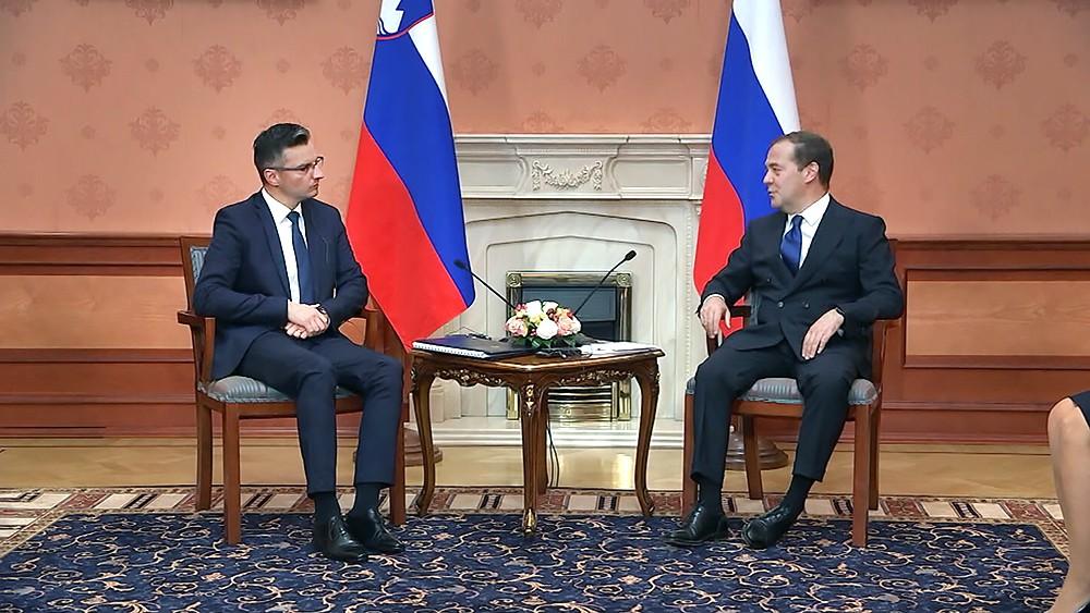 Дмитрий Медведев и Марьян Шарец