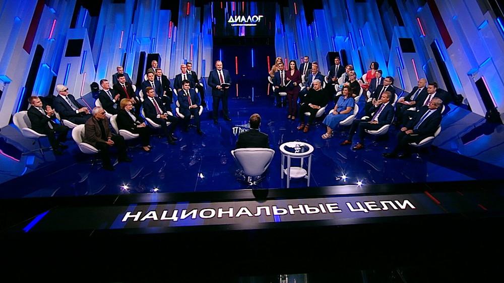 Дмитрий Медведев в телестудии